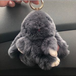 NWOT Real Rabbit Fur Keychain or Bag Charm (o/s)